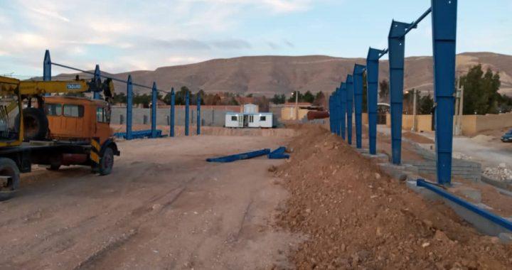 آغاز نصب سوله شرکت طناب ابریشمی در شیراز