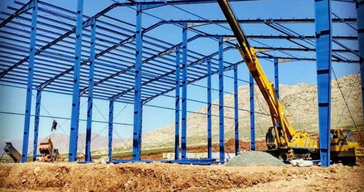 نصب سوله سردخانه 3000تنی در کرمانشاه
